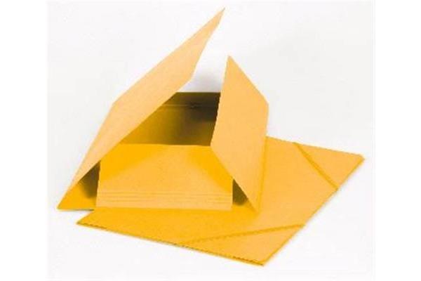 BIELLA Gummibandmappe A4 178401.20 gelb, 355gm2 200 Bl.