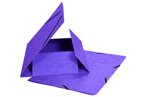 BIELLA Gummibandmappe A4 178401.42 violett, 355gm2 200 Bl.
