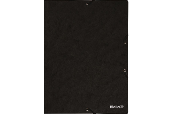 BIELLA Gummibandmappe A4 17840102U schwarz,355gm2 200 Blatt