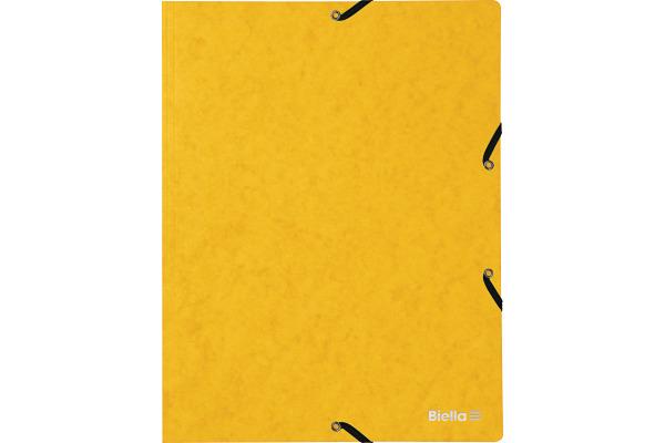 BIELLA Gummibandmappe A4 17840120U gelb, 355gm2 200 Blatt