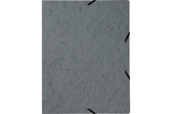 BIELLA Gummibandmappe A4 17840125U grau, 355gm2 200 Blatt