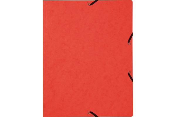 BIELLA Gummibandmappe A4 17840145U rot, 355gm2 200 Blatt
