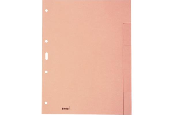 BIELLA Register Karton hellbraun A4 19640500U 5-teilig,...