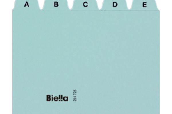 BIELLA Leitkarten A5 21452505U blau A-Z