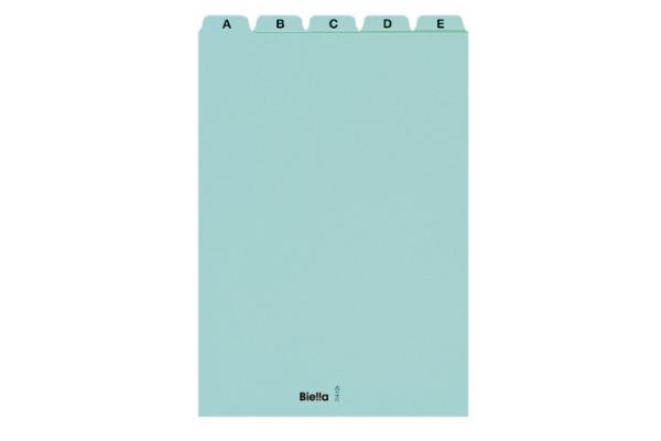 BIELLA Leitkarten A5 21452605U blau A-Z