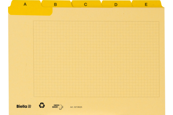 BIELLA Leitkarten A5 21952520U gelb A-Z