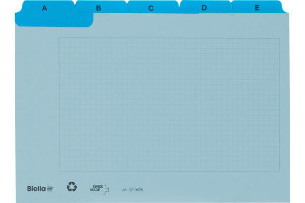 BIELLA Kartei-Leitkarten A7 21972505U blau,...
