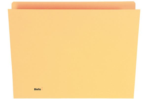 BIELLA Vertikalmappe A4 25542420U gelb 100 Stück