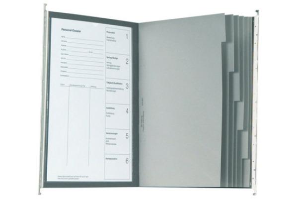 BIELLA Registermappe A4 271430.25 Set, grau 25cm