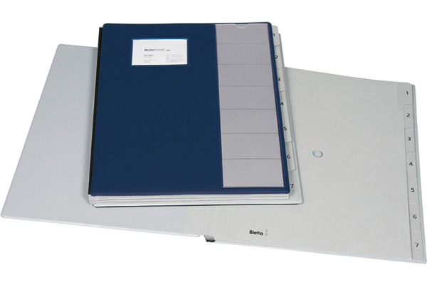 BIELLA Pultmappe Pronto A4 320407.07 dunkelblau, 7-teilig
