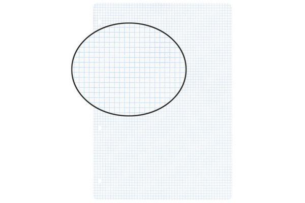 BIELLA Einlageblätter A4 450444.00 weiss,kar. 4mm,4-Loch 100Bl.