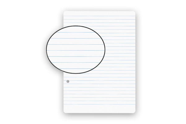 BIELLA Einlageblätter A5 450521.00 weiss,liniert, 2-Loch 100Bl.