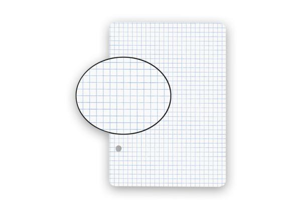 BIELLA Einlageblätter A6 450624.00 weiss,kar. 4mm,2-Loch 100Bl.