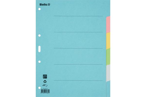 BIELLA Register Karton farbig A4 461406.00 6-teilig, blanko