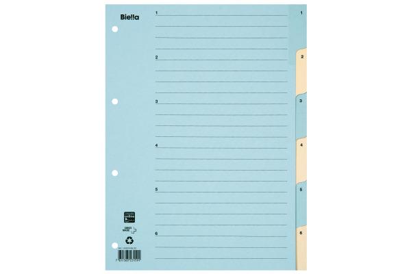 BIELLA Register Karton farbig A4 46244600U 1-6