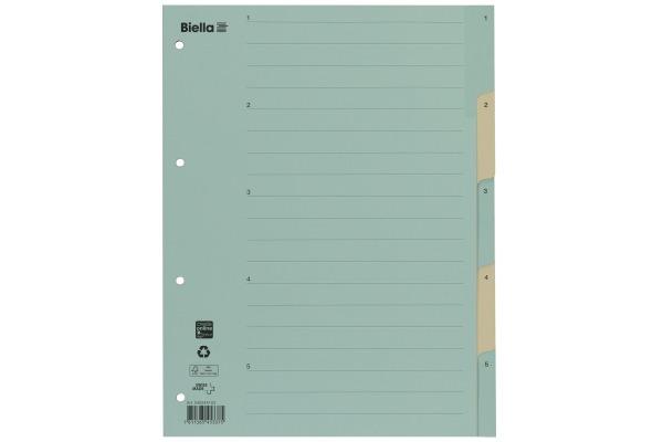 BIELLA Register Karton A4 462447.00 1-5, farbig