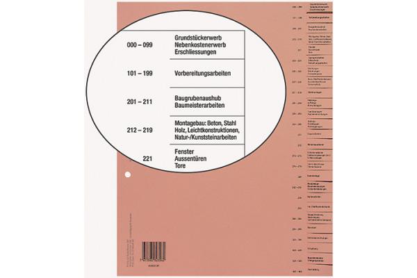 BIELLA Bauabrechnungsregister A4 46442690U 26-teilig, braun, deutsch