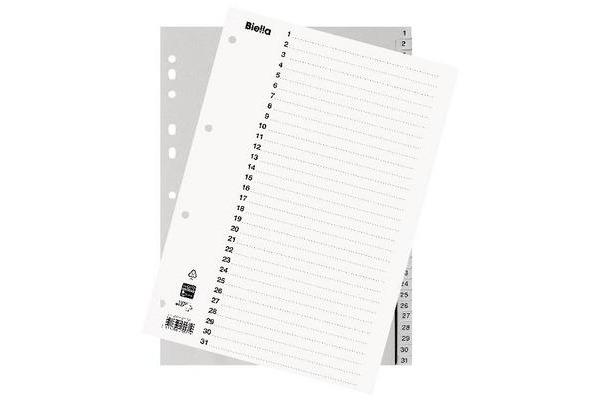 BIELLA Register PP grau A4 47143100U 1-31