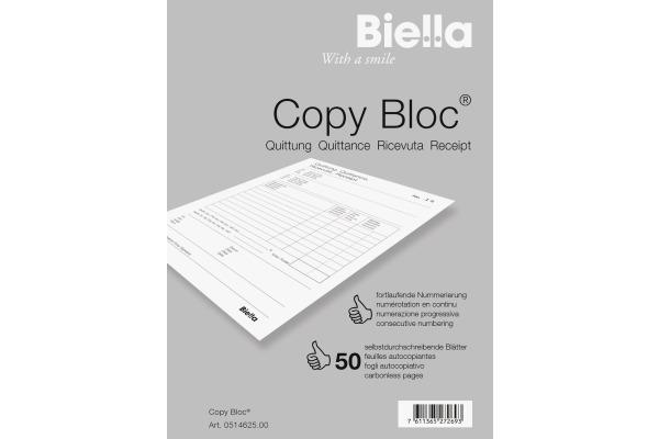 BIELLA Quittung COPY-BLOC D/F/I/E A6 514625.00...