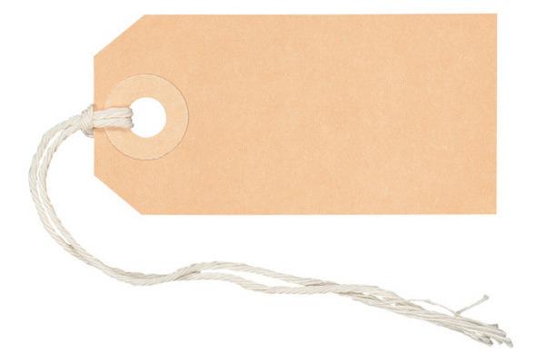 BIELLA Anhänge-Etiketten 35x70mm 561070.00 braun...