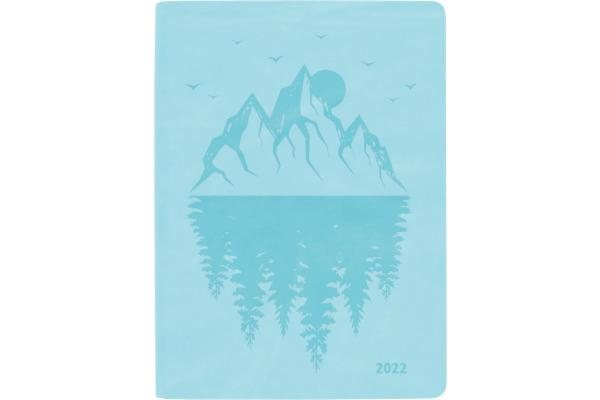 BIELLA TA Memento Ladytimer 2022 825715060 10,1x14,2 cm, 1W/2S, hellblau