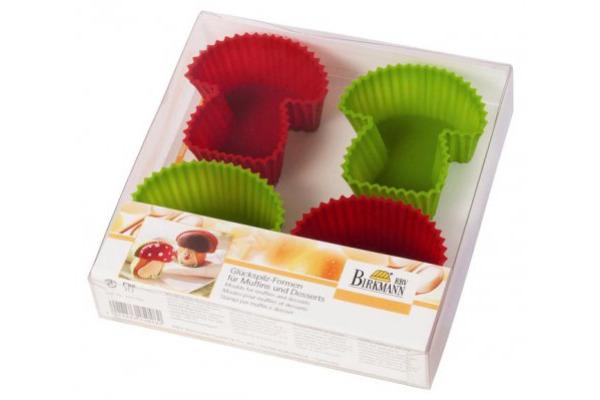 BIRKMANN Muffin Förmchenset Pilz 7576085 Silikon 4-teilig