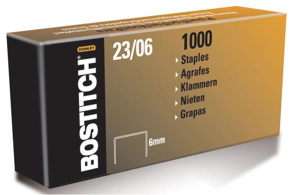 BOSTITCH Heftklammern 6mm 23-06-1M 1000 Stück