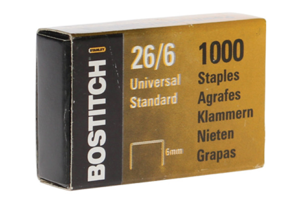 BOSTITCH Heftklammern 6mm 26061MGAL 1000 Stück