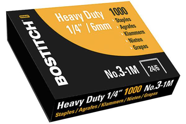 BOSTITCH Heftklammern 6mm NO.3-1M 1000 Stück Nummer3-1M