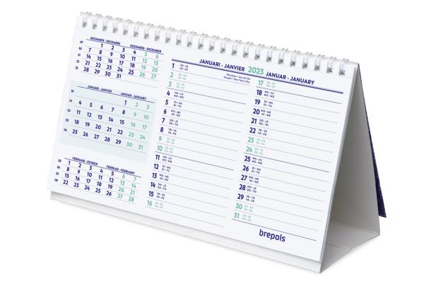 BREPOLS 3-Monatskal.mit Notizen 8519900 21x12,5cm, 2022