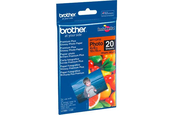 BROTHER Photo Paper glossy 260g A6 BP71-GP20 MFC-6490CW 20 Blatt