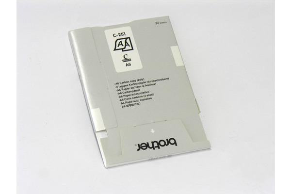 BROTHER Durchschlag-Thermopapier A6 C-251S MW-260 (2-fach) 10x30 Blatt