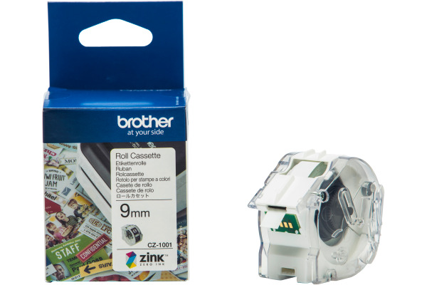 BROTHER Colour Paper Tape 9mm/5m CZ-1001 VC-500W Compact Label Printer