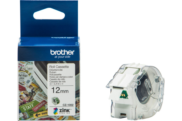 BROTHER Colour Paper Tape 12mm/5m CZ-1002 VC-500W Compact Label Printer