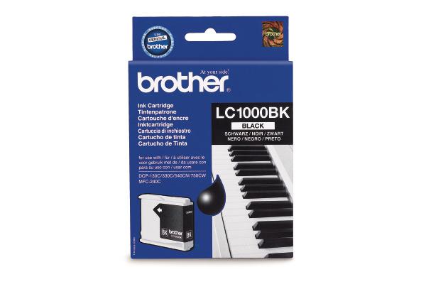 BROTHER Tintenpatrone schwarz LC-1000BK DCP-130C/MFC-240C 500 Seiten