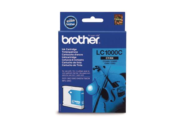 BROTHER Tintenpatrone cyan LC-1000C DCP-130C/MFC-240C 400 Seiten