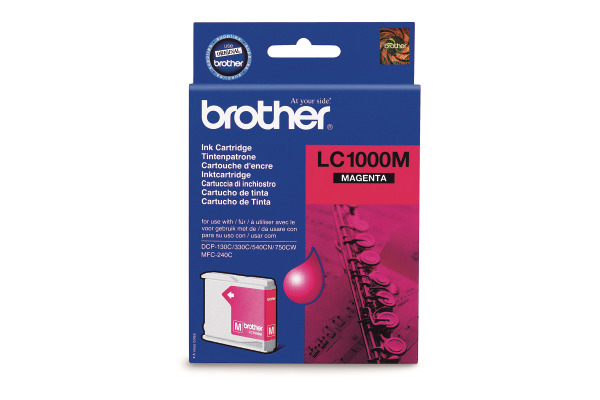 BROTHER Tintenpatrone magenta LC-1000M DCP-130C/MFC-240C 400 Seiten