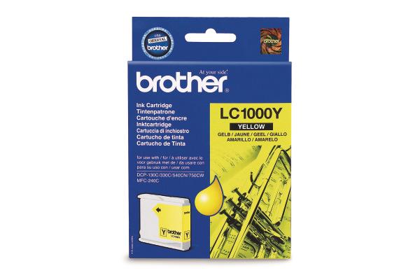 BROTHER Tintenpatrone yellow LC-1000Y DCP-130C/MFC-240C 400 Seiten