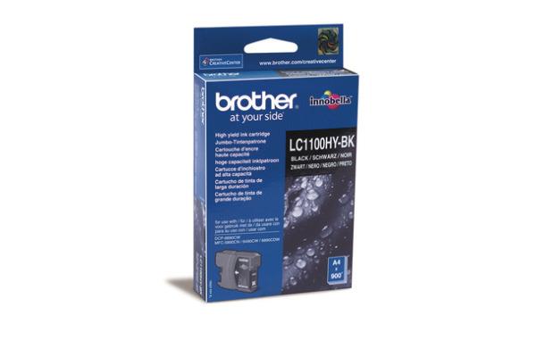 BROTHER Tintenpatrone HY schwarz LC-1100HY MFC-6490CW 900 Seiten