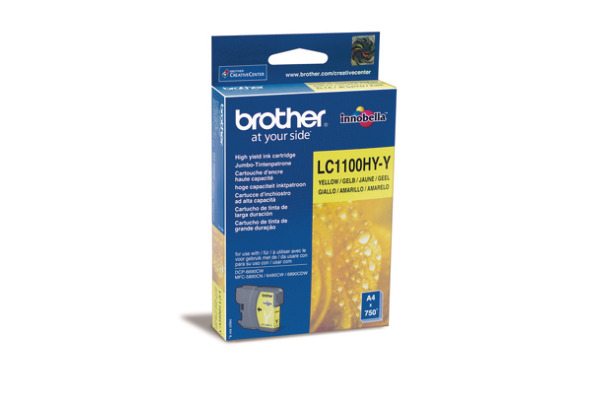 BROTHER Tintenpatrone HY yellow LC-1100HY MFC-6490CW 750 Seiten