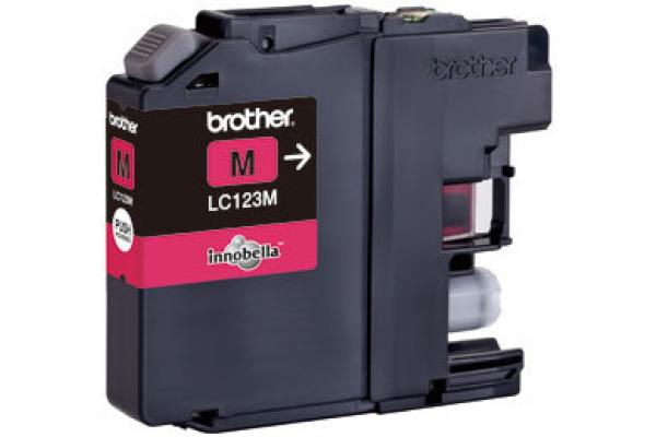 BROTHER Tintenpatrone magenta LC-123M DCP-J411ODW 600 Seiten