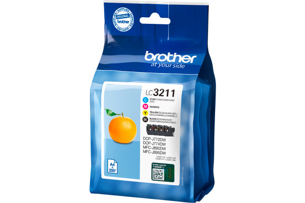 BROTHER Valuepack Tinte CMYBK LC-3211V DCP-J774DWW 200 Seiten