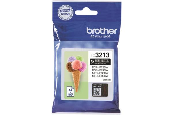 BROTHER Tintenpatrone schwarz LC-3213BK DCP-J774DW 400 Seiten