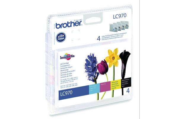BROTHER Valuepack Tinte CMYBK LC-970VAL MFC-260C 350/300 Seiten