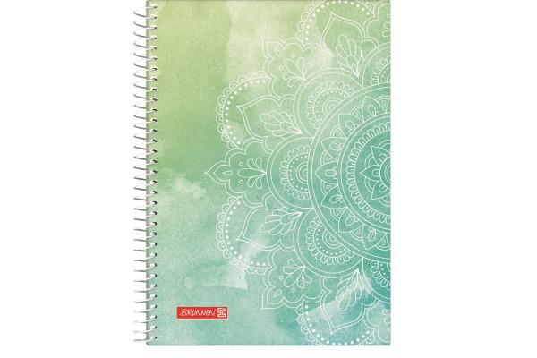 BRUNNEN Spiralbuch Colours of Ocean A5 104748561 multicolor 80 Blatt