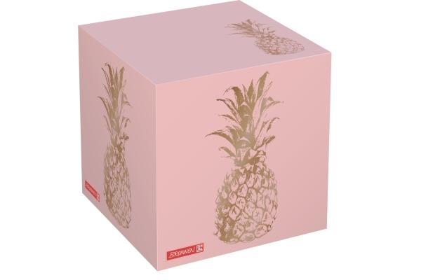 BRUNNEN Zettel-Würfel Pineap. 7x7x7cm 105567065 multicolor 600 Blatt