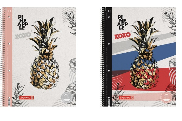 BRUNNEN Collegeblock Pineapple A4 106792765 multicolor 80 Blatt
