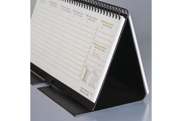 BRUNNEN Querterminkalender 2020 Aufst. 108706090 schwarz d f i e 28x12cm 2S 1W
