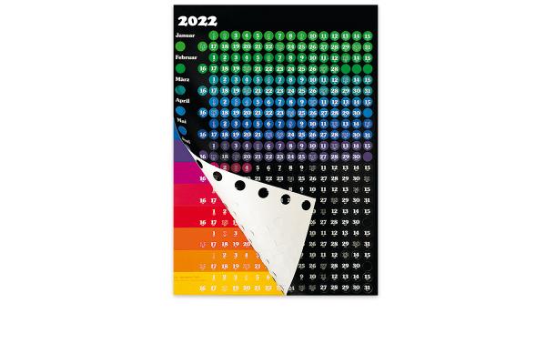 BÜHNER Grafik-Kalender deutsch DP 12 57,5x81cm, 2021