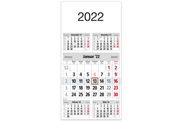 BÜHNER 5-Monatskalender ms. M5TF 30x59cm, 2021